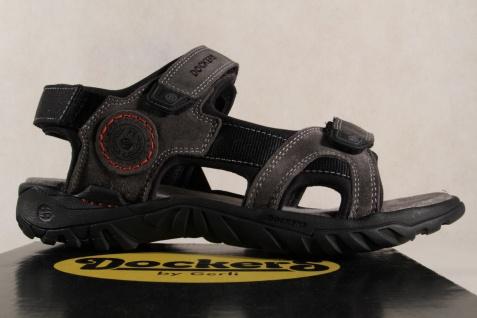 Dockers Sandale grau, Klettverschluss, Echtleder Schuhe weiche Innensohle NEU Beliebte Schuhe Echtleder 8fda96