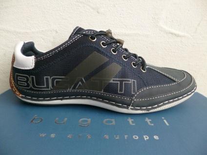 Bugatti Sneakers Sneaker Schnürschuhe Halbschuhe Slipper blau 48013 NEU!