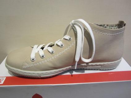 Rieker Stiefel, Stofffutter, Schnürschuh, Stiefel, beige, sand Stofffutter, Stiefel, NEU aab909