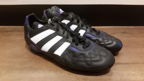 Adidas Fußballschuh schwarz/weiß/lila Nockenstollen NEU Sportschuh Fußball NEU