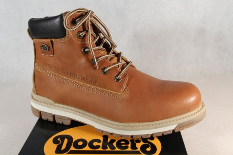 Dockers Herren Stiefel Boots Winterstiefel braun Leder 43LU001 NEU