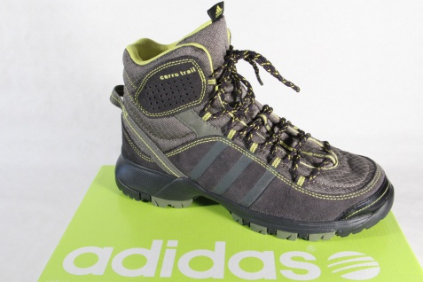 Adidas Stiefel Boots wasserdicht Leder/Textil grau/gelb NEU!