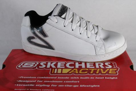 Skechers Herren Schnürschuhe Sneakers Halbschuhe Sportschuhe weiss NEU!
