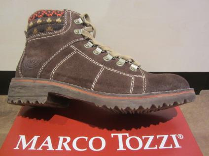 Marco Tozzi Stiefel zum gefüttert Schnüren, Leder, braun, warm gefüttert zum NEU!! e81153