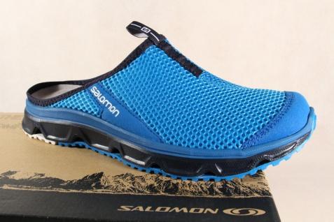 Salomon Clogs RX Slide, blau, Lederinnenfußbett 392443 NEU