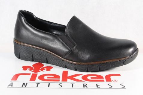Rieker Damen Slipper Halbschuhe Sportschuhe Sneakers Leder schwarz 53766 NEU!