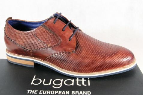 Bugatti Herren Schnürschuh Schnürschuhe Halbschuhe Sneaker braun Leder 69403 NEU