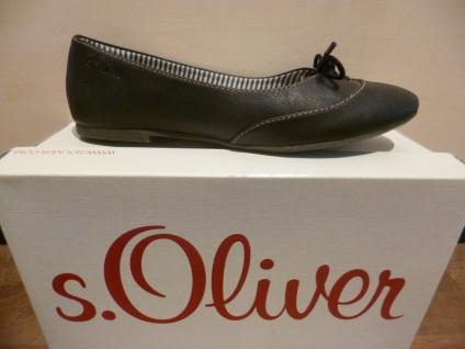 S.Oliver Ballerina Slipper schwarz Halbschuhe Pumps schwarz Slipper Lederinnensohle NEU!! bc006b