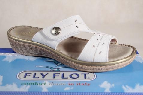 Fly Flot Damen Pantoletten Pantoffel NEU! Hausschuhe weiß Echtleder NEU! Pantoffel d06f6e