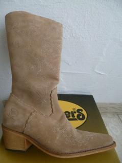 Dockers Cowboystiefel Westernstiefel Stiefel Motorradstiefel Boots beige Leder - Vorschau 3