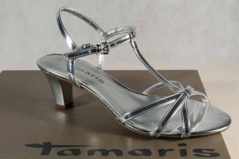Tamaris Damen Sandale Sandalen Sandalette Sandaletten silber 28329 NEU!