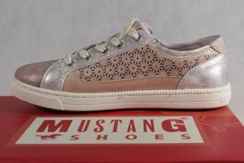 Mustang Slipper Sneakers Stoff Sportschuhe Halbschuhe rosè Stoff Sneakers Gummisohle NEU e071a1