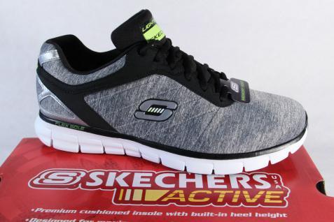 Skechers Schnürschuhe Sneakers Sneaker Sportschuhe Halbschuhe grau 91189 NEU!