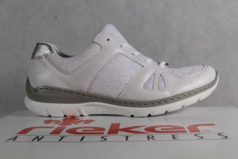 Rieker Halbschuhe Damen Schnürschuhe Sneakers Sportschuhe Halbschuhe Rieker weiß L3242 NEU! 3394b9
