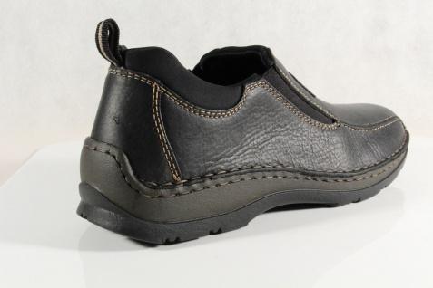 Rieker Herren Slipper Sneakers schwarz Echtleder 05363 NEU - Vorschau 4