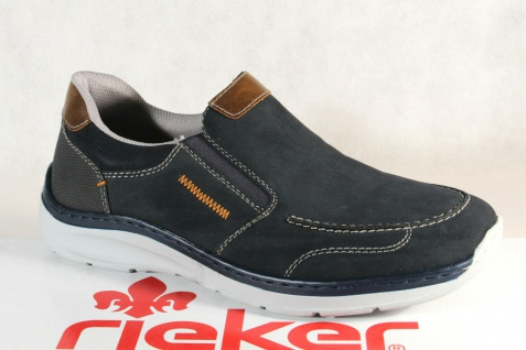 Rieker Halbschuhe Slipper Schnürschuhe Sneaker blau B8952 NEU!!