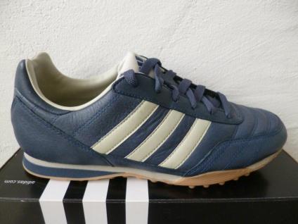 Adidas Sportschuhe Sneakers Sneaker Freizeitschuhe blau Leder NEU