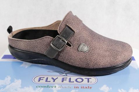 Fly Flot herren pantoffel filzoptik Braun wechselfubett neu