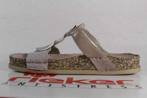 Rieker Klettverschluß Pantolette, Pantoletten grau 64059 Klettverschluß Rieker NEU! Beliebte Schuhe 21c912