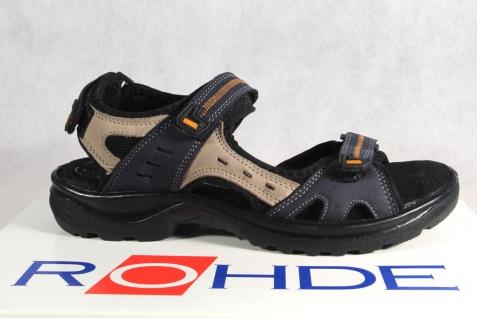 Rohde Weite Damen Sandale Sandalen Sandaletten Weite Rohde G blau NEU!! a8e66e