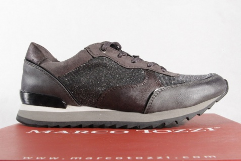 Marco Sneakers Tozzi Damen Schnürschuhe 23714 Sneakers Marco Halbschuhe grau NEU! c01744