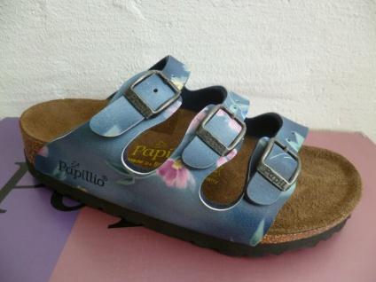 Papillio Pantolette Pantoletten Hausschuh Hausschuhe blau/bunt Mädchen Neu!