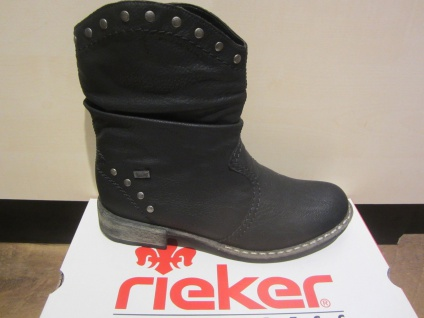 Rieker Tex-Stiefel, schwarz, kein Leder, warm gefüttert, NEU