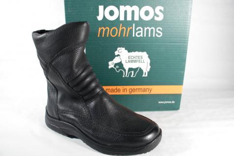 Jomos Stiefel Winterstiefel Stiefeletten Boots schwarz Leder Lammfell 40850 Neu!