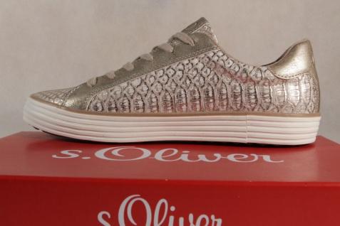S.Oliver gold/ Damen Schnürschuhe Sneakers Halbschuhe gold/ S.Oliver rose Gummisohle NEU! Beliebte Schuhe cb0d8c