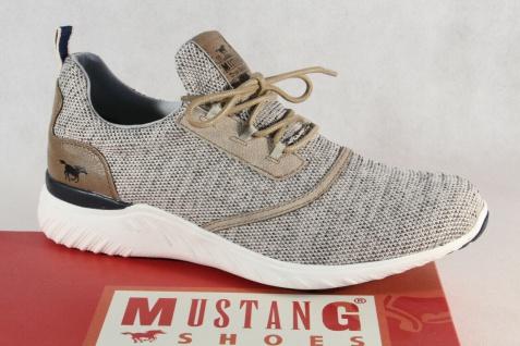 Mustang Slipper Schnürschuhe Sneakers Halbschuhe Sportschuhe beige NEU