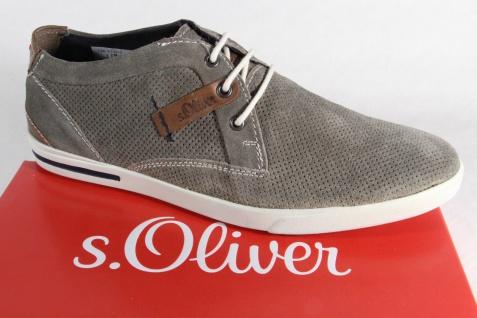 S.Oliver Herren grau, Schnürschuh Sneaker grau, Herren Echtleder, Gummisohle, NEU!! 805149