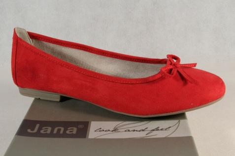 Soft Line by Jana Damen Ballerina Pumps Slipper rot Weite H 22164 NEU!