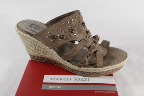 Marco braun Tozzi Pantolette Pantoletten Pantoffel braun Marco weiche Innensohle NEU! 07c59b