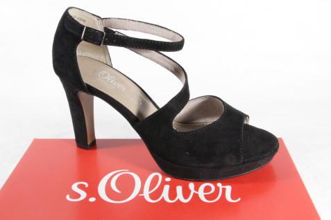 S.Oliver Pumps Sandalen Sandaletten Pumps S.Oliver Echtleder schwarz 28323 NEU!! c33d17