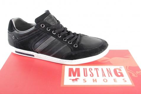 Mustang Halbschuhe Herren Schnürschuhe Schnürschuh Sneakers Halbschuhe Mustang schwarz NEU 398d52