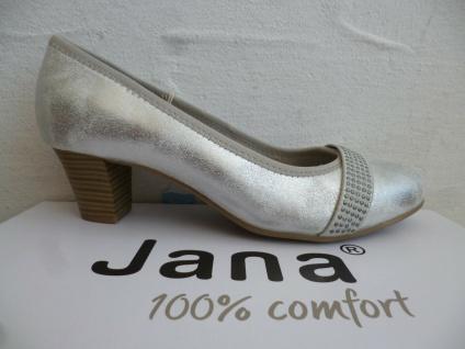 Soft Line by Jana Damen Pumps Slipper Ballerina silber Weite H 22464 NEU!