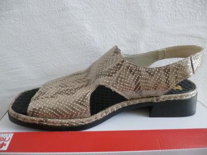 Rieker Sandale Damen Sandale Rieker Sandalette grau/multi Krokoleder NEU!! 4ca299