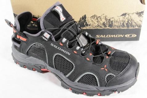 Salomon Sportschuhe Sneaker Sneakers Techamphibian schwarz/rot Neu!