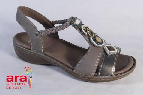Ara Leder, Sandale Sandalette Leder, Ara grau bronze Lederfußbett NEU! c9136b