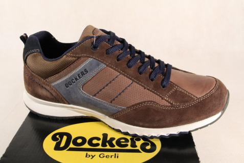 Dockers Schnürschuhe Halbschuhe braun Sneakers braun Halbschuhe Echtleder NEU! 132e2a