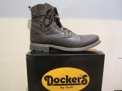 Dockers Reißverschluss, Stiefel, Reißverschluss, Dockers braun, Echtleder, Stofffutter, NEU 52c1fd