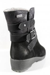 Jana-Tex Damen Stiefel Stiefeletten Boots Winterstiefel schwarz Echtleder NEU