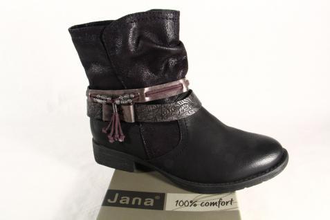 Jana Stiefelette 25412 Stiefel, Stiefel, NEU weiche Innensohle, schwarz NEU Stiefel, 7db645