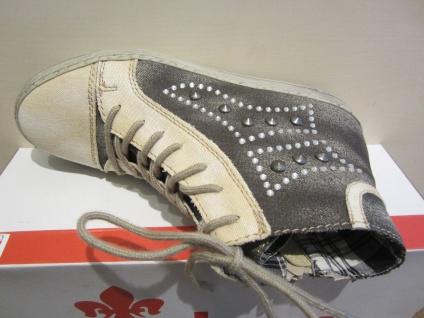 Rieker mit Stiefel mit Rieker Reißverschluss, beige/grau Stofffutter, NEU 6cbbcb