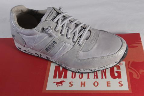 Mustang Slipper Sneakers Sportschuhe Halbschuhe Kunstleder grau NEU