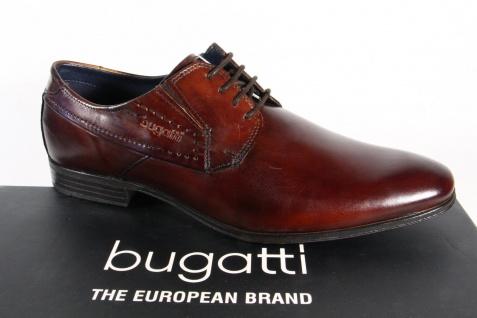 Bugatti Herren Schnürschuhe, Halbschuhe Sneaker Echtleder braun NEU!