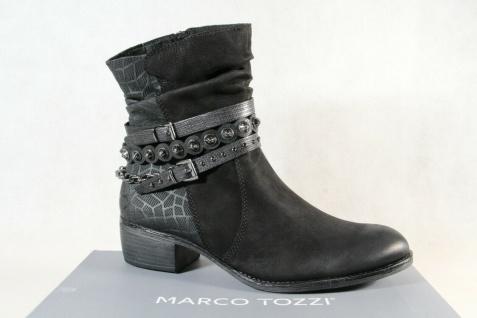Marco Tozzi Stiefelette Stiefeletten Stiefel schwarz Echtleder 25335 NEU!