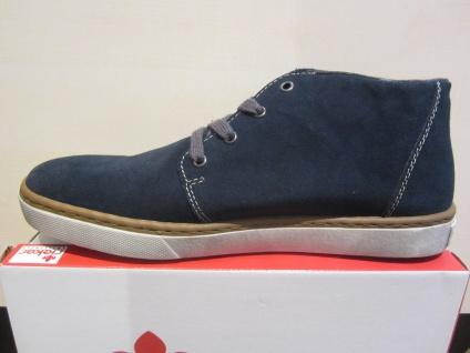 Rieker Stiefel, Karofutter, Boots, Schnürschuh Schnürstiefel blau, Karofutter, Stiefel, Leder NEU Beliebte Schuhe 9be9bd