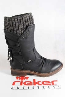 Rieker-Tex schwarz Damen Stiefel, Stiefelette schwarz Rieker-Tex warm gefüttert 94773 NEU 9de4b0