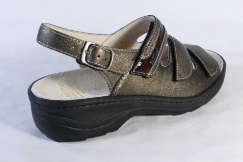 Fidelio Damen Sandale Lederfußbett bronze, Klettverschluß, Leder Lederfußbett Sandale 23443 NEU! 4d59f9